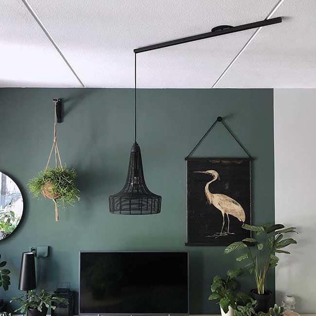 Lightswing Single Matt Black livingroom