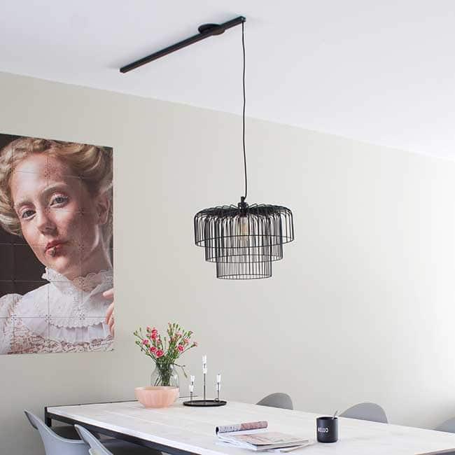 Lightswing Single Matt Black dining table