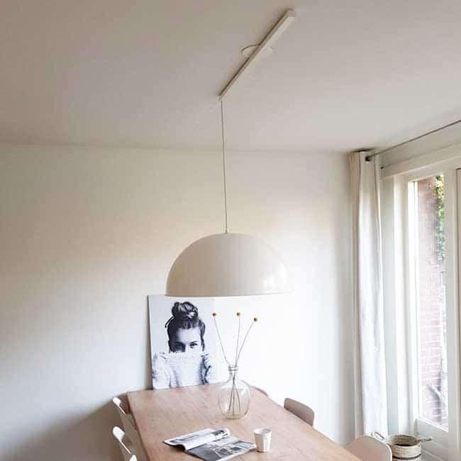 Lightswing Single White dining room