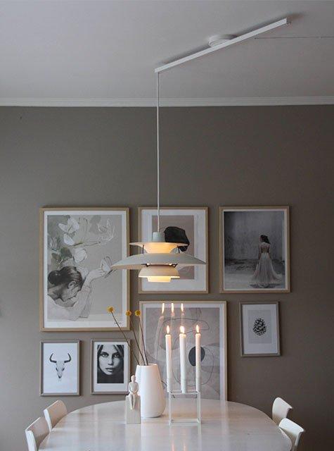 Lightswing Dining room (Single matt white)